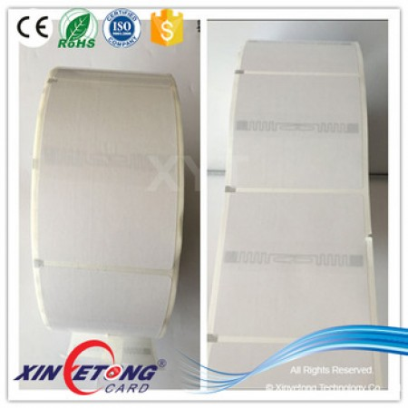 100*100mm Impinj E51Art-paper UHF Blank Label Printed by Zebra 110xi4 Printer