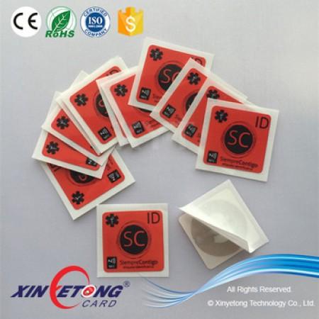 25x25mm Logo Pritning Printable MF1 1K S50 RFID Sticker