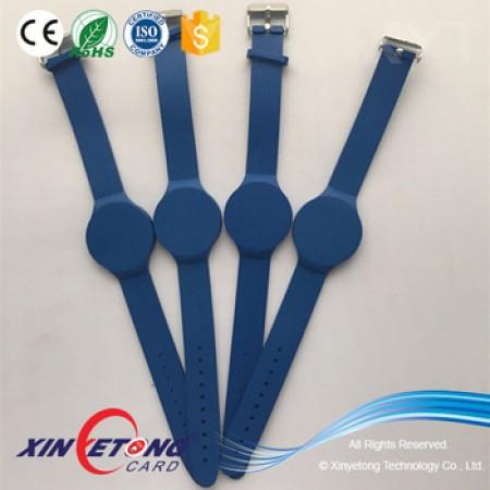 Adjustable Rubber Bracelet Like Watch RFID Awareness Wristbands