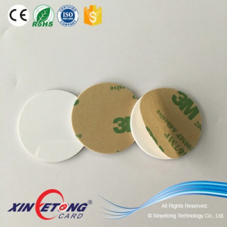 Circle 30mm 888bytes Ntag216 PVC NFC Disc Tag