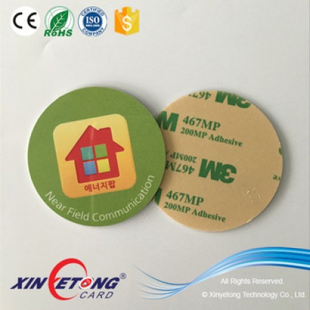 Circle 50mm Type 2 Ntag213 NFC Disc Tag with Logo Printing