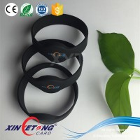 125KHZ Read Only TK4100 Round Head Close-Loop RFID Silicone Wristband