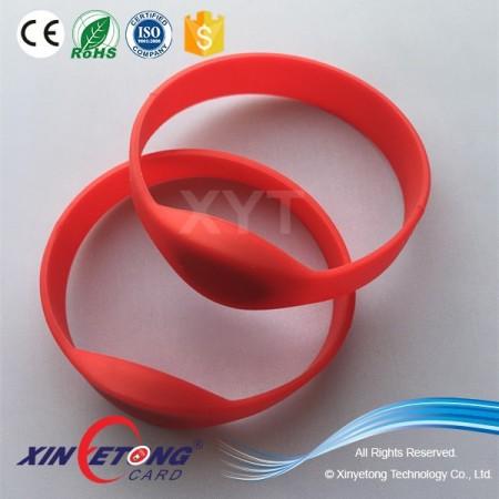 13.56Mhz MF DESFire EV1 8K RFID Silicone Wristband