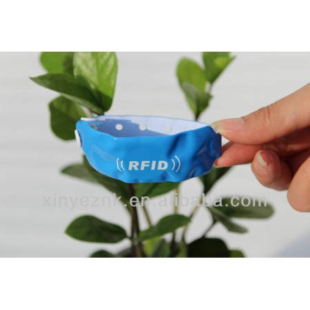 Soft PVC Disposable RFID Wristband For Hospital mother baby care