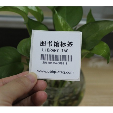 Rfid Ntag20340x40mm library NFC tag with barcode print