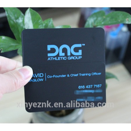 Black Matte Logo Embossed Steel Business Card