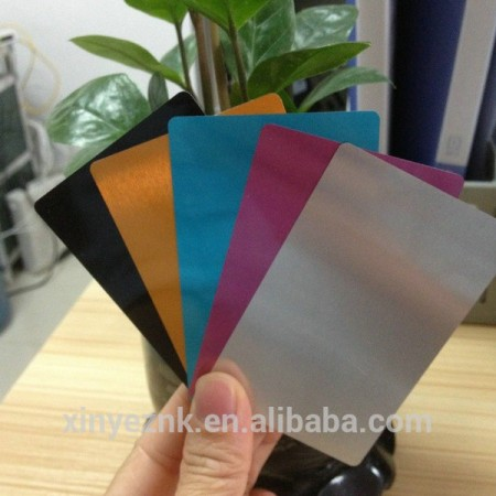 Blank aluminum business card / aluminum metal card