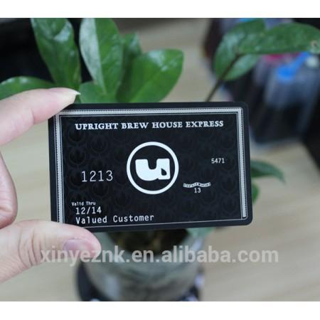 Black matte business card/business card metal