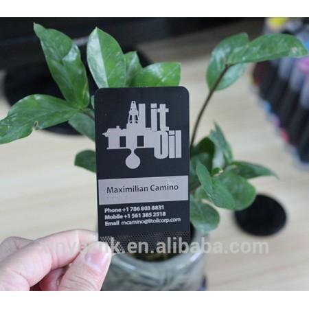 Black matte metal card / metal sublimation business card