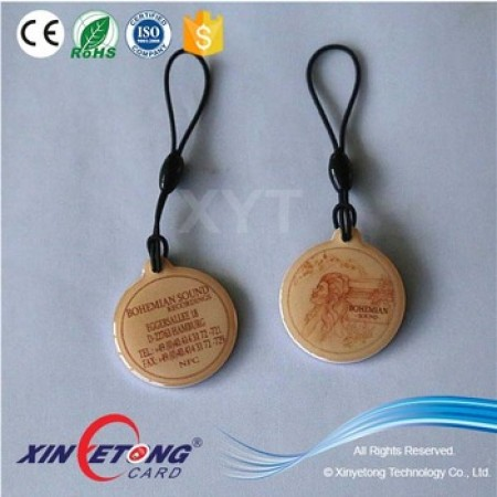 28*32mm Epoxy Tag with small ear NTAG213 Pet Tag