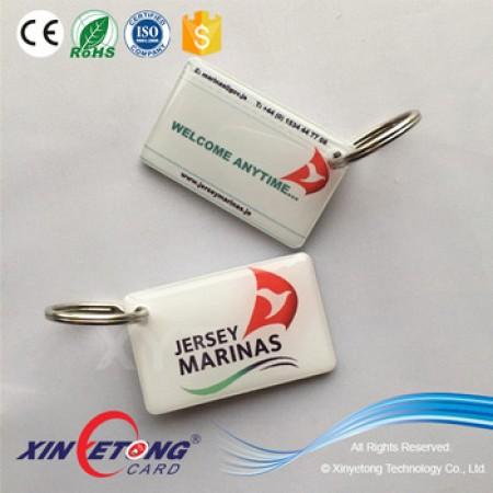 30*50mm NTAG215 Epoxy KeyTag 3mm thick NFC Key Tag