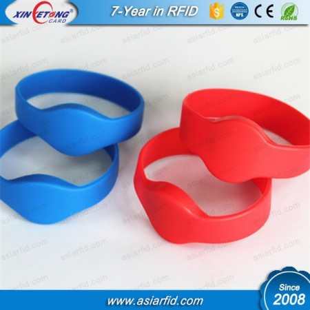 Access Control Silicone RFID Wristband MF 1K 13.56MHZ