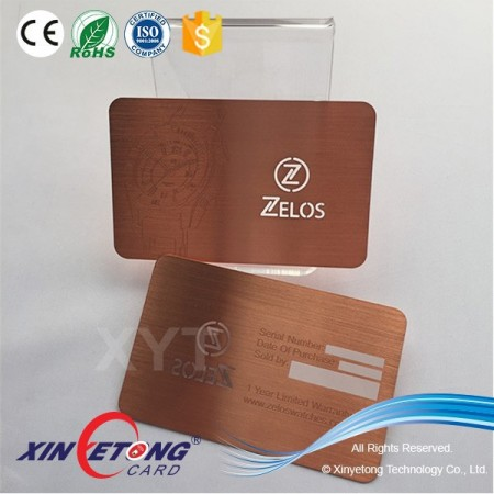 Silk printing Metal Business VIP card