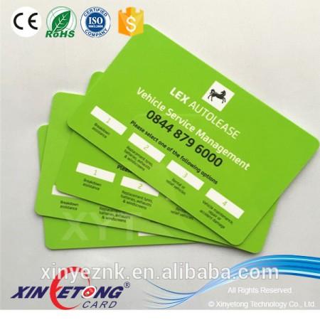 2016 Plastic material VIP Membership PVC Cards