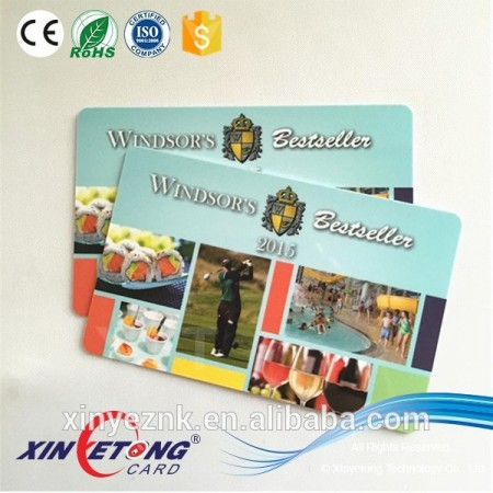 2016 Delicated CR80 Customized printable Plastic Gift PVC cards