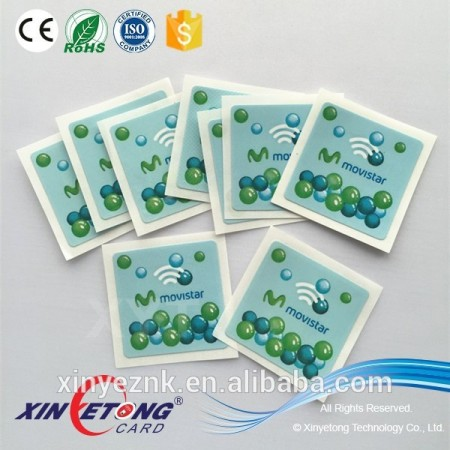 Popular High Frequency chip 13.56khz RFID/NFC tags/sticker for Acess control Card