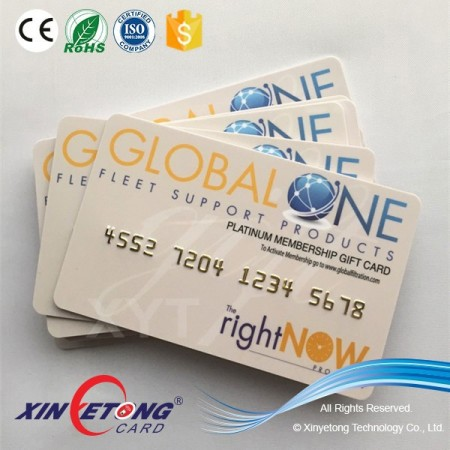 2016 CR80 Embossing PVC business card