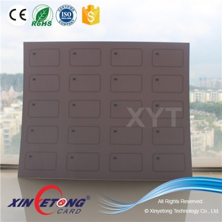 125KHZ TK4100 RFID Contactless Card Inlay 2x5 Layout
