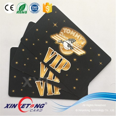 Big chian store 85.5x54mm Size VIP Membership plastic PVC Cards