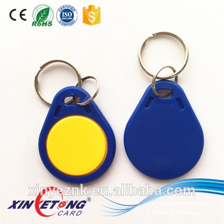 Customer required MF S70 ABS Material RFID Key Fobs/Tags for Hotel
