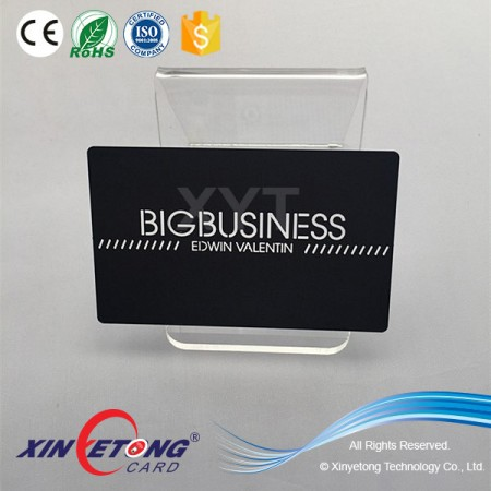 Black Matte CR80 Stainless Steel Metal Business Card