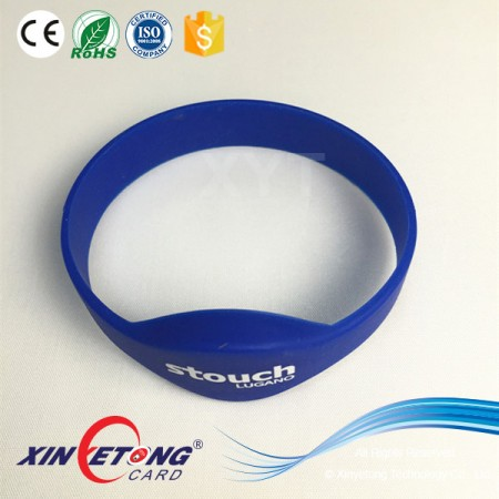 Custom Fabric Wristband RFID Wristband Reader Wristband For Swimming Pool