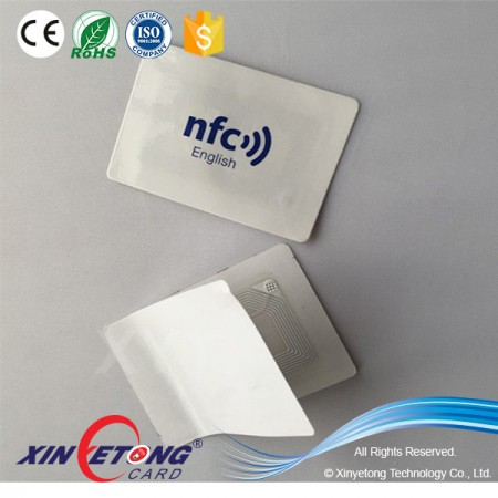 3M adhesive Anti-metal NFC Sticker NFC APP Ntag216 full color NFC Sticker