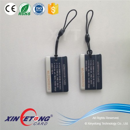 Offset Printing RFID Crystal Epoxy Transport Bus Metro Tag-MF S50 Chip