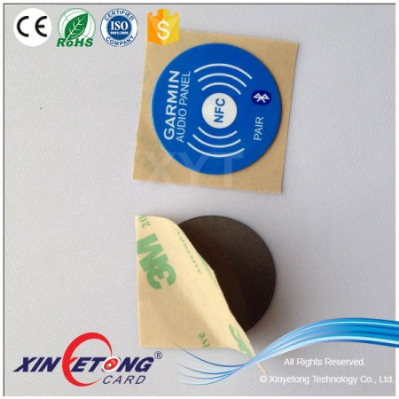 Anti-metal 35*20mm NFC Sticker for Sumsuang Mobile Ntag213 144byte round Tag