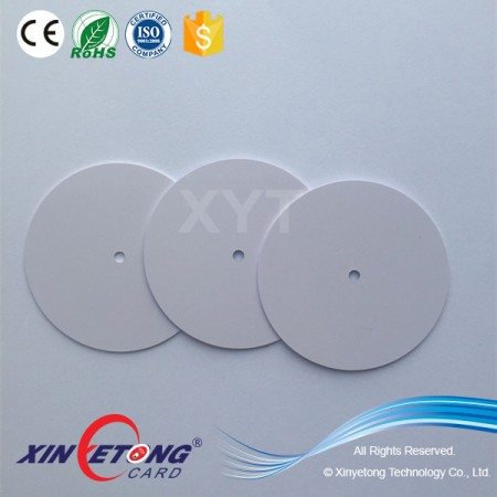 Circle 50mm ICODE SLI Chip RFID Disc Tag