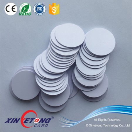 Diameter 25mm Icode Sli-X Chip RFID Disc Tag  ISO 15693