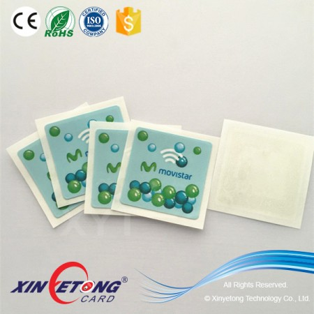 35x35mm Logo Printed Ultralight Chip RFID Sticker