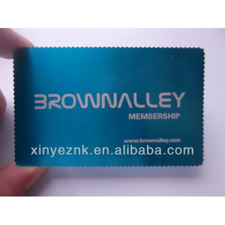 Aluminum business card in china