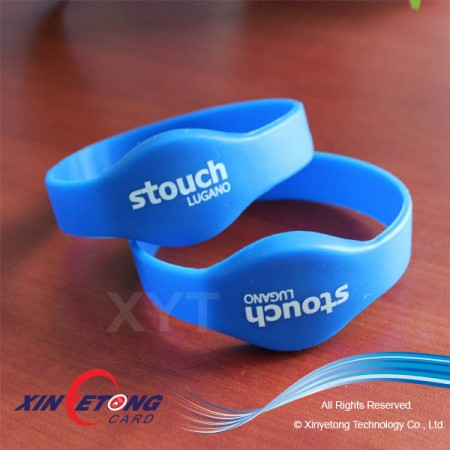 Chip Ntag203 Waterproof NFC Silicone Wristband