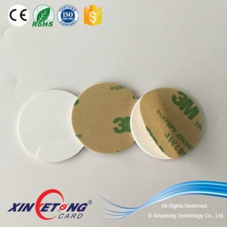 Circle 30mm 888bytes Ntag216 PVC NFC Disc Tag