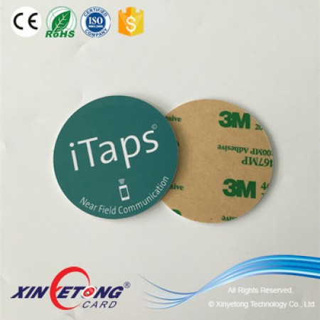 Circle 50mm 504bytes Ntag215 NFC PVC Disc Tag
