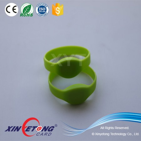 Dia45mm Green Color Classic 1K RFID Silicon Wristband for Kids