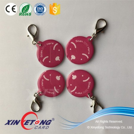 Epoxy Transparent NFC Tag Size 28*32mm Tag Unique QR Dog KeyChain
