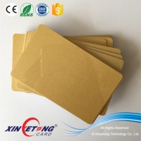 Gold Metallic Background Plastic PVC Card Blank