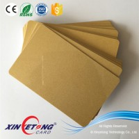 Gold Metallic Background Thermal Printing Plastic PVC Card Blank