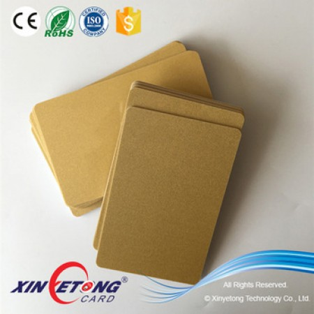 Plain BlanK Gold Metallic Plastic PVC ID Cards